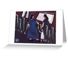 Gossip over the fence Greeting Card