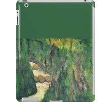 Green landscape with running water iPad Case/Skin