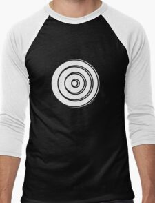 Mandala 33 Simply White Men's Baseball ¾ T-Shirt
