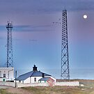 Flamborough Fog Station and Keepers Cottage. by Lilian Marshall
