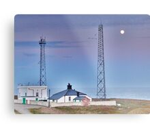 Flamborough Fog Station and Keepers Cottage. Metal Print