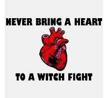 Witch Fight Heart in Black Photographic Print