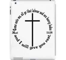 MATTHEW 11:28 circular iPad Case/Skin