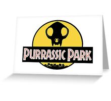 PURRassic park Greeting Card