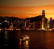 Hong Kong on fire by Renee Hubbard Fine Art Photography