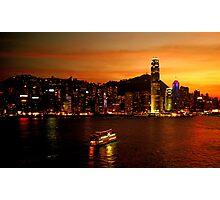 Hong Kong on fire Photographic Print