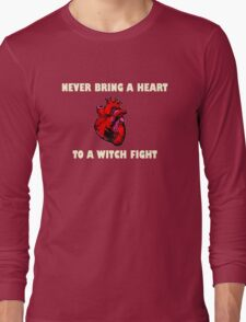 Witch Fight Heart in White Long Sleeve T-Shirt