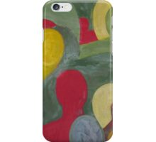 Abstract people in color iPhone Case/Skin