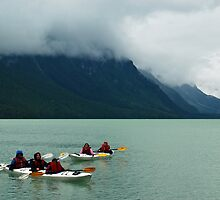 Kayaking on Chilkoot Lake ~ Haines Alaska by Barbara Burkhardt