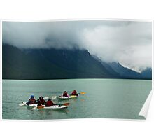 Kayaking on Chilkoot Lake ~ Haines Alaska Poster