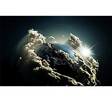 Earth vs Space Photographic Print
