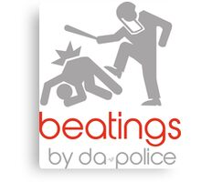 POLICE BEATINGS by Tai's Tees Canvas Print
