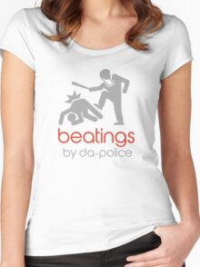 POLICE BEATINGS by Tai's Tees Women's Fitted Scoop T-Shirt