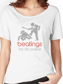 POLICE BEATINGS by Tai's Tees Women's Relaxed Fit T-Shirt