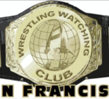 San Francisco WWC Championship Belt Logo Sticker