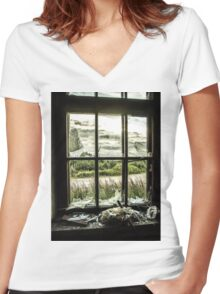View from Decay Women's Fitted V-Neck T-Shirt