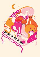 Jazz Cats by prouddaydreamer