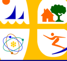 Flag of Huntington Beach  Sticker