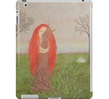 Animals Spirit: Girl with Fox Rabbits and Bird iPad Case/Skin