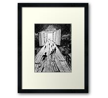 an open door Framed Print