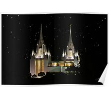 San Diego Temple Starry Night 20x30 Poster