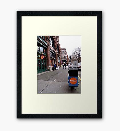 Seattle Weekly Framed Print