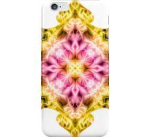 """Spirit of India: Cross Fleur Diamond"" in purple, rose and yellow iPhone Case/Skin"