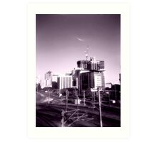 view from the railyards Art Print