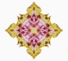 """""""Spirit of India: Cross Fleur Diamond"""" in purple, rose and yellow Kids Clothes"""
