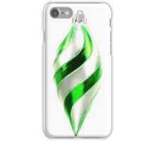 Green and white teardrop bauble iPhone Case/Skin