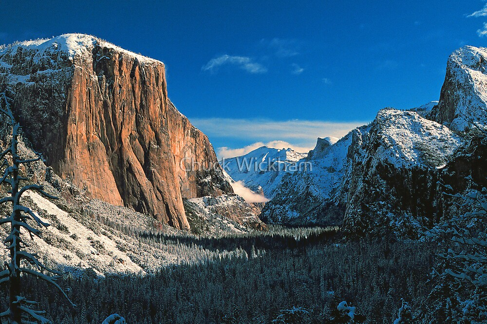 YOSEMITE VALLEY,WINTER by Chuck Wickham