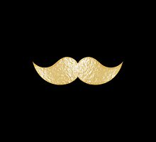 Faux Gold Brass Mustache 1 by TigerLynx