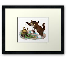 Touché says kitten to the Crab Framed Print