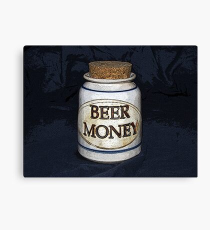 Beer Money Canvas Print