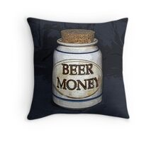 Beer Money Throw Pillow