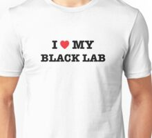 I Heart My Black Lab Unisex T-Shirt