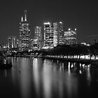 Melbourne City from the Yarra River by nixphotopix