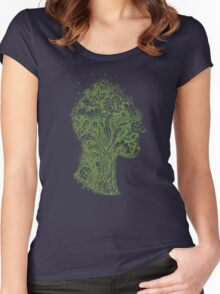 Think Green Profile Women's Fitted Scoop T-Shirt