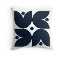 the tulips - navy Throw Pillow
