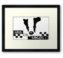 Save the Badgers Framed Print