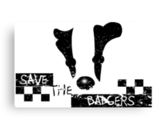 Save the Badgers Canvas Print