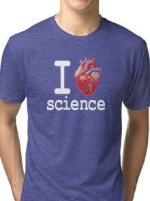 Funny - I Heart Science Tri-blend T-Shirt