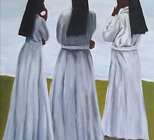 Three sisters or nuns standing in a circle by ArtPazBiz