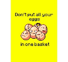 Exeggcute #102 - Don't put all your eggs in one Basket! Photographic Print