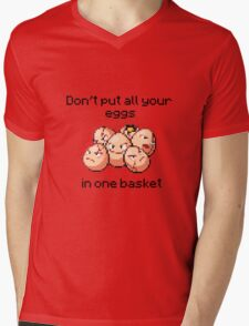 Exeggcute #102 - Don't put all your eggs in one Basket! Mens V-Neck T-Shirt