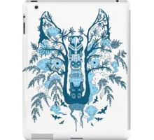 Psychedelic plants and totem wolf iPad Case/Skin