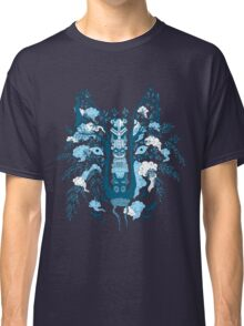 Psychedelic plants and totem wolf Classic T-Shirt