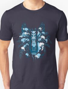 Psychedelic plants and totem wolf T-Shirt