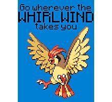 Pidgeotto #17 - Go wherever the WHIRLWIND TAKES YOU T-SHIRT Photographic Print