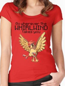 Pidgeotto #17 - Go wherever the WHIRLWIND TAKES YOU T-SHIRT Women's Fitted Scoop T-Shirt